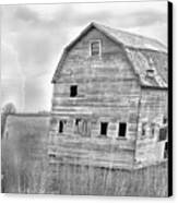 Bw Rustic Barn Lightning Strike Fine Art Photo Canvas Print by James BO  Insogna
