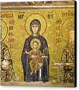 Byzantine Mosaic In Hagia Sophia Canvas Print by Artur Bogacki