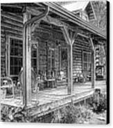 Cabin On The Hill Canvas Print by Tom Mc Nemar