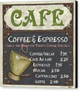 Cafe Chalkboard Canvas Print by Debbie DeWitt
