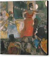 Cafe Concert At Les Ambassadeurs Canvas Print by Edgar Degas