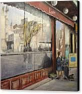 Cafe Victoria Canvas Print by Tomas Castano