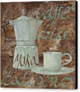 Caffe Espresso Canvas Print by Guido Borelli