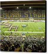 Cal Memorial Stadium On Game Day Canvas Print by Replay Photos