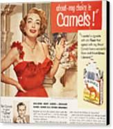 Camel Cigarette Ad, 1951 Canvas Print by Granger