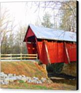 Campbell's Covered Bridge Canvas Print by Diane Toro
