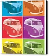 Camper Van Pop Art Canvas Print by Michael Tompsett