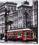 Canal Street Trolley Canvas Print by Tammy Wetzel