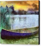 Canoe Canvas Print by Anthony Caruso