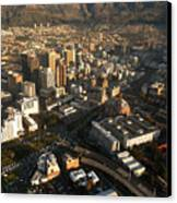 Cape Town From The Air Canvas Print by Andy Smy
