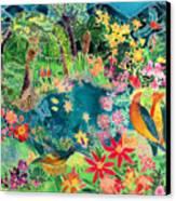 Caribbean Jungle Canvas Print by Hilary Simon