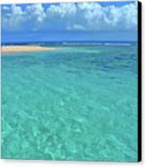 Caribbean Water Canvas Print by Scott Mahon