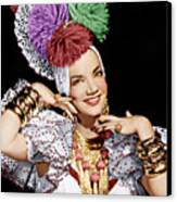 Carmen Miranda, Ca. 1940s Canvas Print by Everett