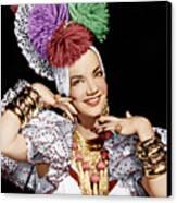 Carmen Miranda, Ca. 1940s Canvas Print by Everett