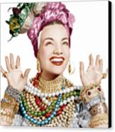 Carmen Miranda, Ca. Late 1940s Canvas Print by Everett