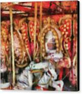 Carnival - The Carousel - Painted Canvas Print by Mike Savad