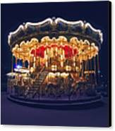 Carousel In Paris Canvas Print by Elena Elisseeva