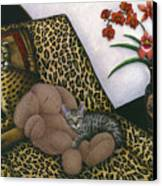 Cat Cheetah's Bed Canvas Print by Carol Wilson
