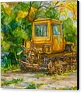 Caterpillar On Backyard Canvas Print by Natoly Art