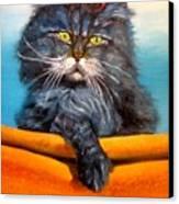 Cat.go To Swim.original Oil Painting Canvas Print by Natalja Picugina