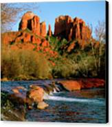 Cathedral Rock At Redrock Crossing Canvas Print by Crystal Garner