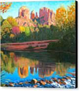 Cathedral Rock - Sedona Canvas Print by Steve Simon