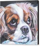 Cavalier King Charles Spaniel Blenheim Canvas Print by Lee Ann Shepard