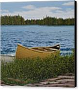 Cedar Canoe Canvas Print by Kenneth M  Kirsch