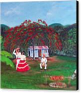 Celebration Canvas Print by Gloria E Barreto-Rodriguez