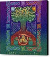 Celtic Tree Of Life Canvas Print by Kristen Fox