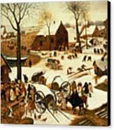 Census At Bethlehem Canvas Print by Pieter the Elder Bruegel