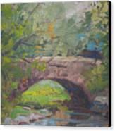 Central Park Bridge Canvas Print by Bart DeCeglie