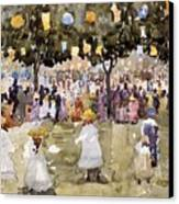Central Park  New York City  July Fourth  Canvas Print by Maurice Prendergast
