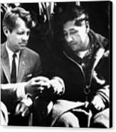 Cesar Chavez Ends His Hunger Strike Canvas Print by Everett