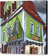 Cesky Krumlov Old Street 3 Canvas Print by Yuriy  Shevchuk