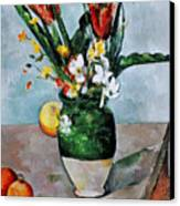Cezanne: Tulips, 1890-92 Canvas Print by Granger