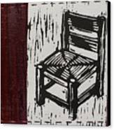 Chair I Canvas Print by Peter Allan