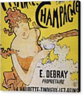 Champagne Poster, 1891 Canvas Print by Granger