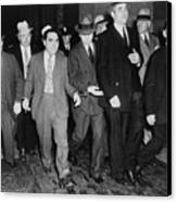 Charles Lucky Luciano In Center Canvas Print by Everett