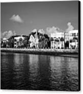 Charleston Battery Row Black And White Canvas Print by Dustin K Ryan
