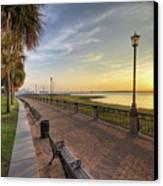 Charleston Sc Waterfront Park Sunrise  Canvas Print by Dustin K Ryan