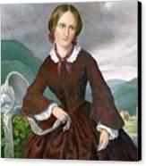 Charlotte Bronte 1816-1855 English Canvas Print by Everett