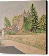 Chateau De Comblat Canvas Print by Paul Signac