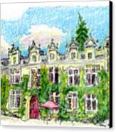 Chateau De Maumont Canvas Print by Tilly Strauss