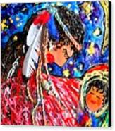 Cherokee Trail Of Tears Mother And Child Canvas Print by Laura  Grisham