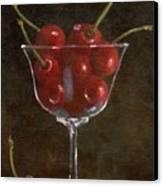 Cherries Jubilee Canvas Print by Sheryl Heatherly Hawkins