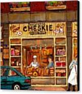 Cheskies Hamishe Bakery Canvas Print by Carole Spandau