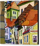 Chesky Krumlov Masna Street 1 Canvas Print by Yuriy  Shevchuk