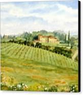 Chianti Villa Canvas Print by Vikki Bouffard