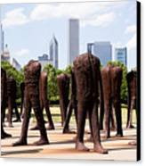 Chicago Agora Headless Statues Canvas Print by Paul Velgos
